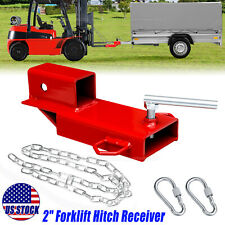Clamp On Forklift Hitch Receiver Pallet Fork Trailer Towing Adapter 2inch Insert