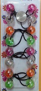 Green pink orange ELASTIC Scrunchie  hair tie girl Balls Ponytail Holder