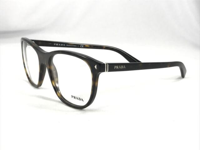 Authentic PRADA Eyeglass Frame VPR 17r 56-19 2au-101 145 Dark Brown ...