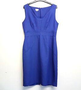 HOBBS-Invitation-Womens-Dress-Bright-Blue-Office-Formal-Sleeveless-UK-Size-12