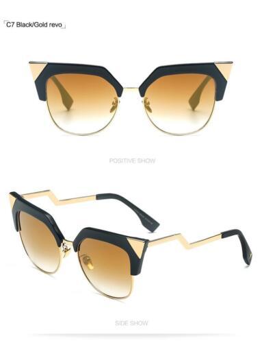 Cat Eye Fashion Gradient Lens Women Curved FF0060//S Sunglasses Designer 97212