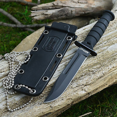 """Mtech 6"""" Kabai Tactical Neck Knife With Kydex Sheath and Beaded Chain"""