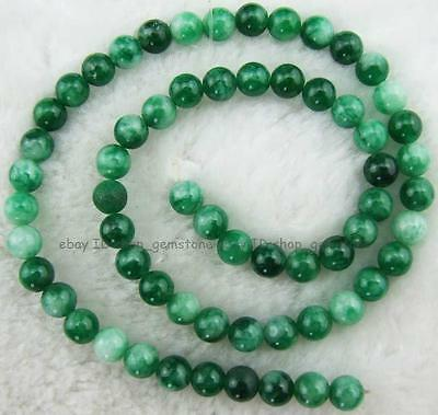 6mm Round Smooth Green Jade Loose Beads 15''New