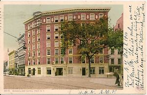 Image Is Loading Rensselaer Hotel Troy New York Ny Postcard 1910