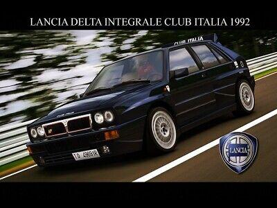 A3 LANCIA 1992 DELTA INTEGRALE 16V EVO Advert Poster Brochure Art Picture