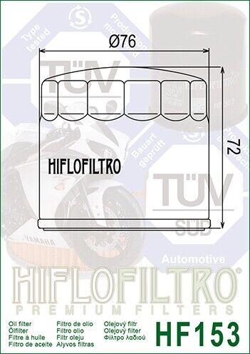 Filtro Olio HIFLO HF153 per Ducati 749 S 03-06