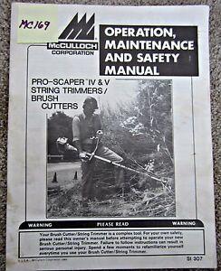 mcculloch trimmer repair manual