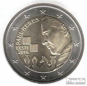 estonie 2016 Fleur de coin (FDC) édition: 500.000 2016 2 euro Paul Keres