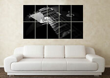 Large Guitar Gibson Style Wall Poster Art Picture Print