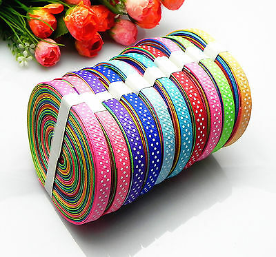 """10/20yards 3/8"""" mixed 10 Style sewing satin grosgrain ribbon lot wholesale A-32"""