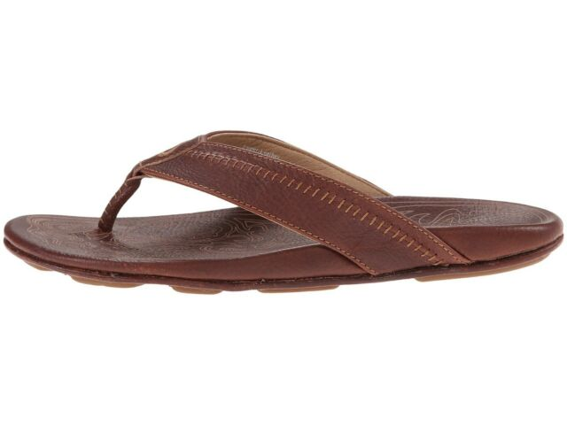 feff8920baa9 OluKai Hiapo Teak Hawaiian Sandals Men s Size 9 for sale online