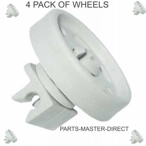 GENUINE AEG ELECTROLUX DISHWASHER BOTTOM LOWER BASKET WHEEL 4055259651 4 PACK