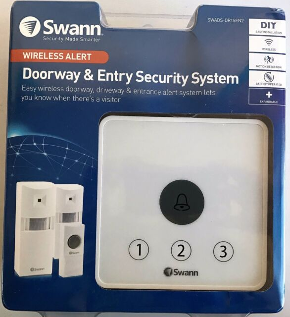 GENUINE Swann Door Bell With Alarm & Sensors High Quality FreeSuperfast Shipping