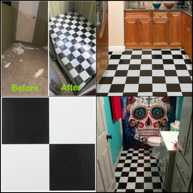White Vinyl Tiles L And Stick Floor