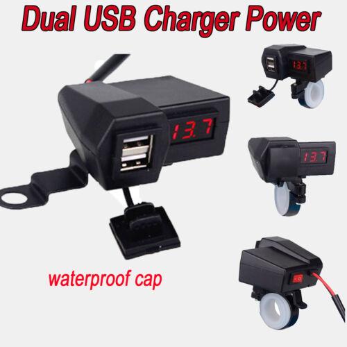 Red USB Charger for Honda Shadow Aero ACE Saber Spirit VT1100 750 600 Cruiser