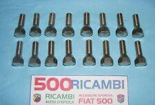 FIAT 500 R 126 EPOCA KIT 16 BULLONI RUOTA CONICI CROMATI FISSAGGIO CERCHI FERRO