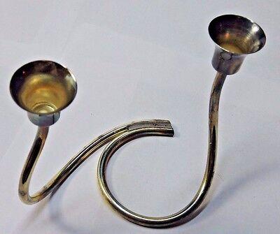 Carl Christensen Denmark Silver Plated Candelabra 2 Candle Centerpiece