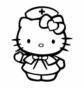 Hello Kitty Nurse v2 Decal Vinyl Truck Car Sticker