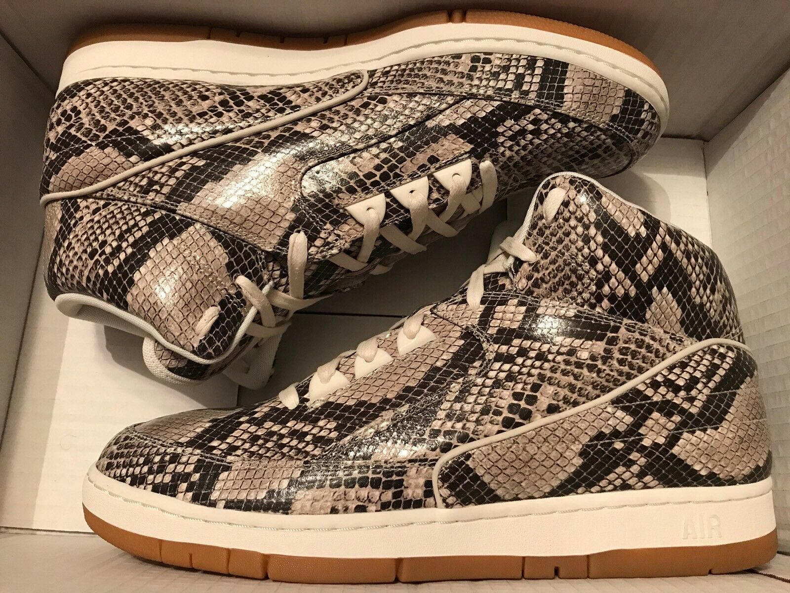 NIKE AIR PYTHON PRM Brown Snakeskin 705066-201 Size 13 New DS Rare Limited