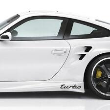 New - Turbo Porsche Boxster Cayenne Panamera 911 GT S Cayman Black Decal Sticker