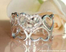 Feminin: Bezaubernder Diamanten Herz Ring, 0.13 ct. W-SI Weißgold 585, 1.350€