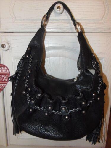 Hobo Tassel Rock Studded Stunning Bartley Large Luella Thick Leather Bag Black 8wn0PkOX
