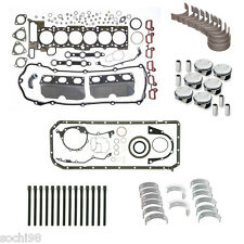 BMW E39 E46 E53 E83 X5 M54 3.0 - Engine Rebuild Kit 01-06 Gasket Pistons Rings
