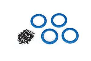 Traxxas 8169x Anneaux Beadlock Aluminium Bleu 1.9