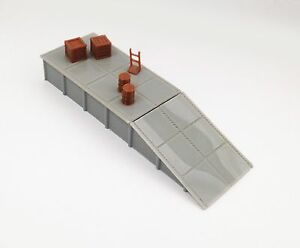 Outland-Models-Train-Railway-Layout-Platform-Loading-Dock-w-Goods-HO-Scale