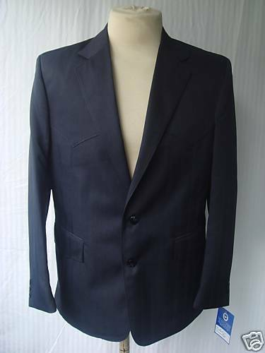 46R 38W New Mens Western Wear Suit Navy Worsted Fiber