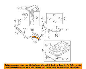 Superb Kia Oem 02 05 Sedona 3 5L V6 Fuel System Hose 0K52Y42241 Ebay Wiring 101 Capemaxxcnl