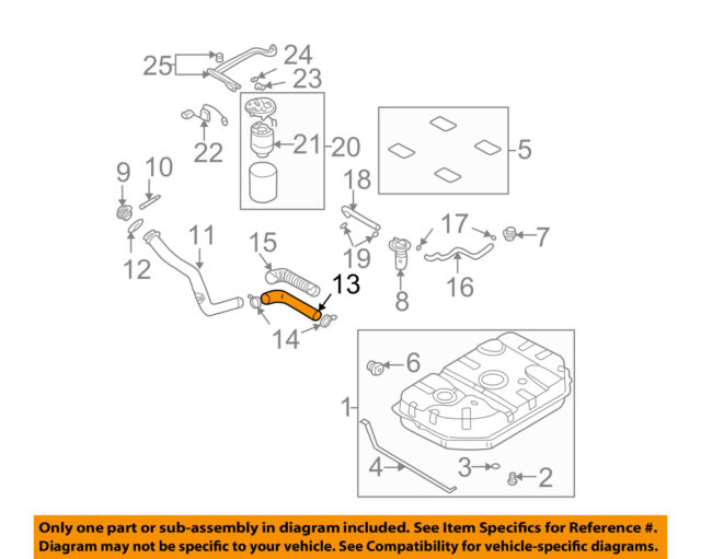 KIA OEM 02-05 Sedona 3.5L-V6 Fuel System-Hose 0K52Y42241