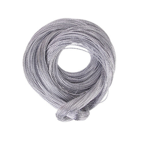 100 Yards 1mm Metallic Thread String Jewelry Craft Cord Card Braid Multi-purpose