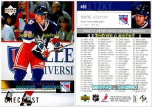 UPPER-DECK-2006-WAYNE-GRETZKY-NHL-NEW-YORK-RANGERS-CHECKLIST-MINT-CARD-450