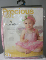 Infant Fairy Costume Girls Pink Pixie Princess Halloween Sz 6-12 Months Costume