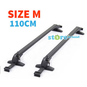 Car-Roof-Rack-Universal-Aluminum-Sedan-Luggage-Carrier-Pair-Cross-Bar-Size-M-AU