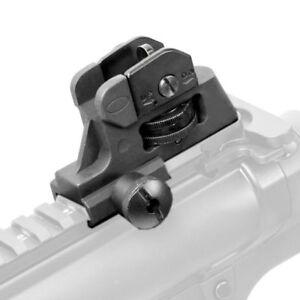 Metal-Adjustable-Rear-Iron-Sight-Post-Fixed-Match-Grade-For-Rifle-Gun-Hunting