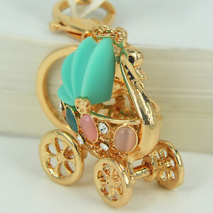 Cute-Goose-Baby-Car-Keyring-Rhinestone-Crystal-Pendant-Bag-Women-Key-Chain-Gift
