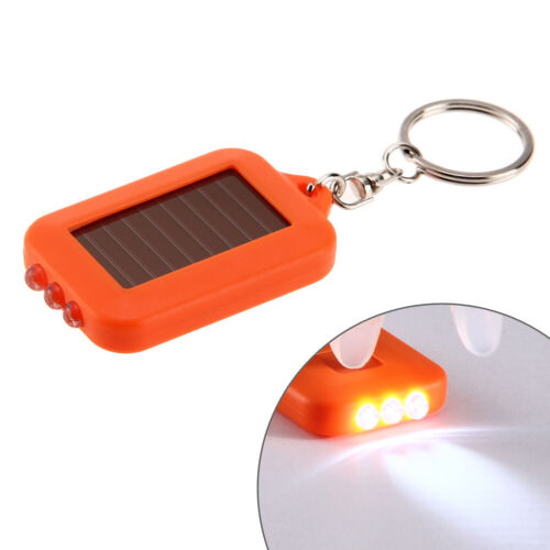 Multifunctional Solar Energy 3 Light LED Electric Torch Key Chain Accessory