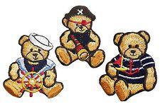 CHRISTMAS TEDDY BEAR EMBROIDERED IRON ON  APPLIQUE 2788-J