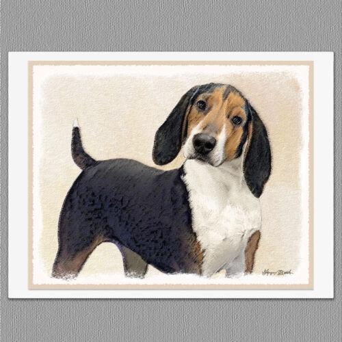 6 Treeing Walker Coonhound Dog Blank Art Note Greeting Cards