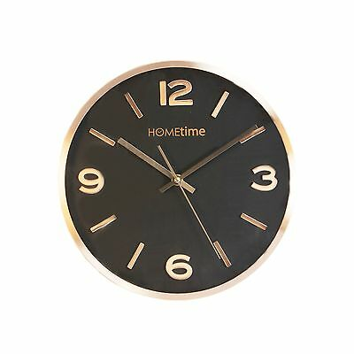Modern Silent Aluminium Metal Copper Hometime Wall Clock - Contemporary Kitchen
