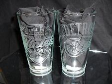 2014 NHL SPECIAL EDITION WINTER CLASSIC DETROIT RED WINGS 2 ETCHED PINT GLASSES