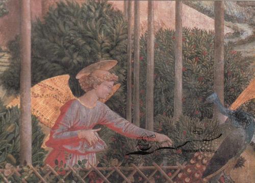 Benozzo Gozzoli Kunstpostkarte Engel Ausschnitt