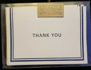 Thank You Cards 50 Count Blue Stripe Gartner Studios Ebay