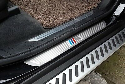 4pcs Door Sill Scuff Plate Guards Trim For BMW X6 F16 2014-2018 X5 F15 2014-2018