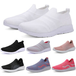 Women-039-s-Sneakers-Outdoor-Sport-Running-Breathable-Mesh-Walking-Slip-On-Shoes-Gym
