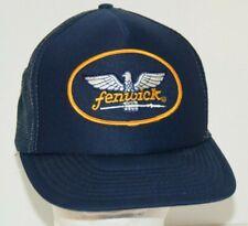 Trout Navy Red  Striped  Snapback Nylon Boardwalk Hat Cap Fly Fishing