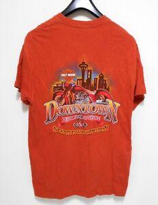 Harley Davidson Seattle >> Details About Harley Davidson T Shirt Men S Size L Downtown Seattle Wa Motorcycle Usa Tee