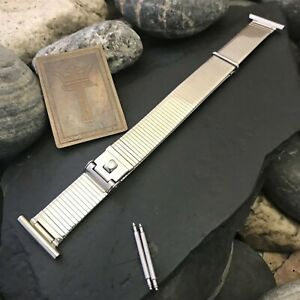 3-4-034-9-16-034-Military-Type-Stainless-Steel-Forstner-Komfit-nos-Deluxe-Watch-Band